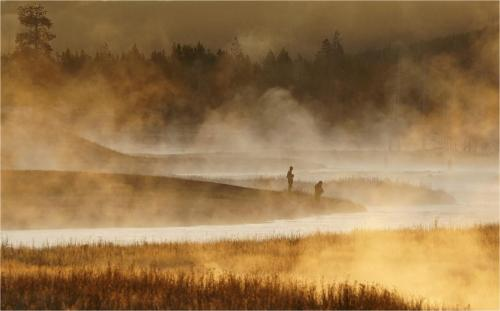 Early Morning Fishermen - Ivan Barrett