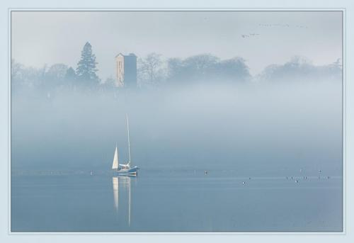 Misty morning sail