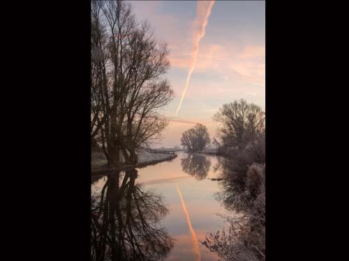 Reflections of a Frosty Dawn on the Old West River
