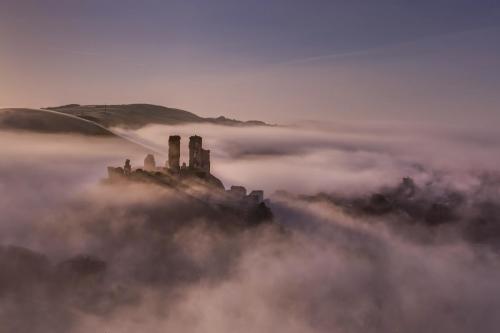 Corfe Castle, Misty Morning