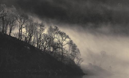 Mist at Loch Garry
