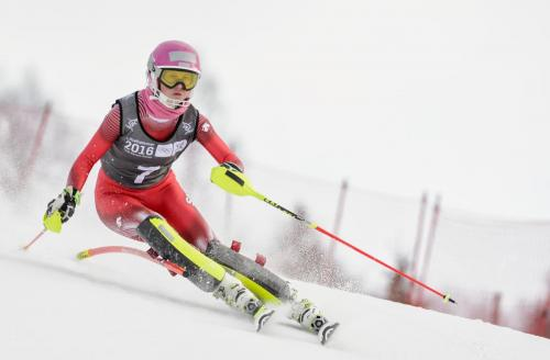 Aline Danioth Womens Slalom Gold medalist