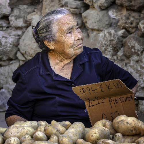 Cretean Potato Seller