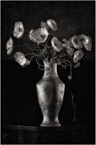Russet Vase and Crane