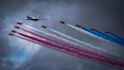 Sentinel Leading Red Arrows