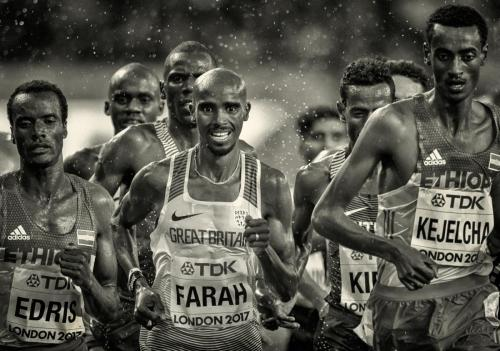 Mo Farrah 5000m Heat 2017