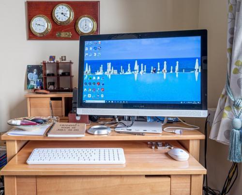 Tony Cole_The Computer Desk - jobs to do, hand sanitiser