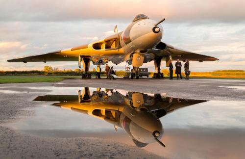Vulcan Bomber at sunset